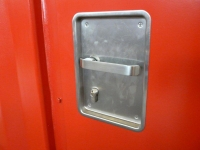 A60 door stainless steel recessed handle cylinder - outside