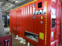 A60 steel A60 container door - mounted
