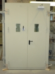 A60 double leaf steel door