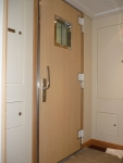 A60 sound reducing door - wood, build in