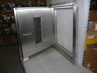 A60 stainless steel hatch with small window  - inside