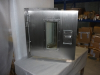 A60 stainless steel hatch with small window  - outside