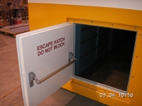 A60 escape hatch 800x800mm - opened