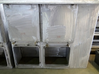 Aluminum ventilation grill with cover