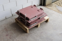 steel ventilation grill closed on  pallet