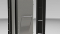 Heavy duty watertight door - close up