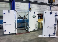 central closed steel watertight doors