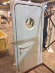 steel watertight door with bull eye
