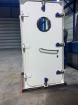 central closed steel watertight door inside