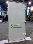 central closed steel watertight door