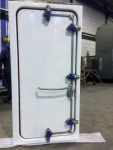 steel watertight door central closed