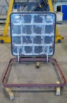 flush aluminium hatch steel frame open