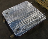 flush aluminium hatch steel frame