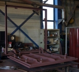 flush steel hatch with steel frame