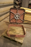 Steel watertight coaming hatch with handwheels - opened