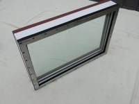 Steel welded A60 window with stainless steel list