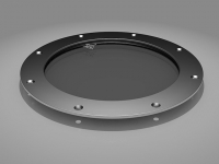 Stainless steel bolted porthole